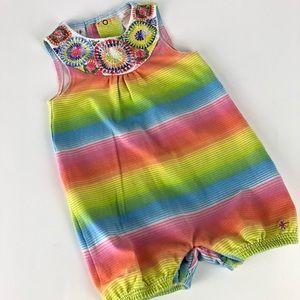 Truly Scrumptious Rainbow Romper Girls 18mo